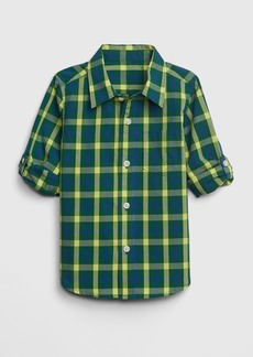 Gap Toddler Poplin Convertible Long Sleeve Shirt
