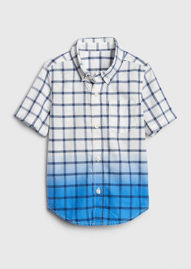 Gap Toddler Poplin Dip-Dye Shirt