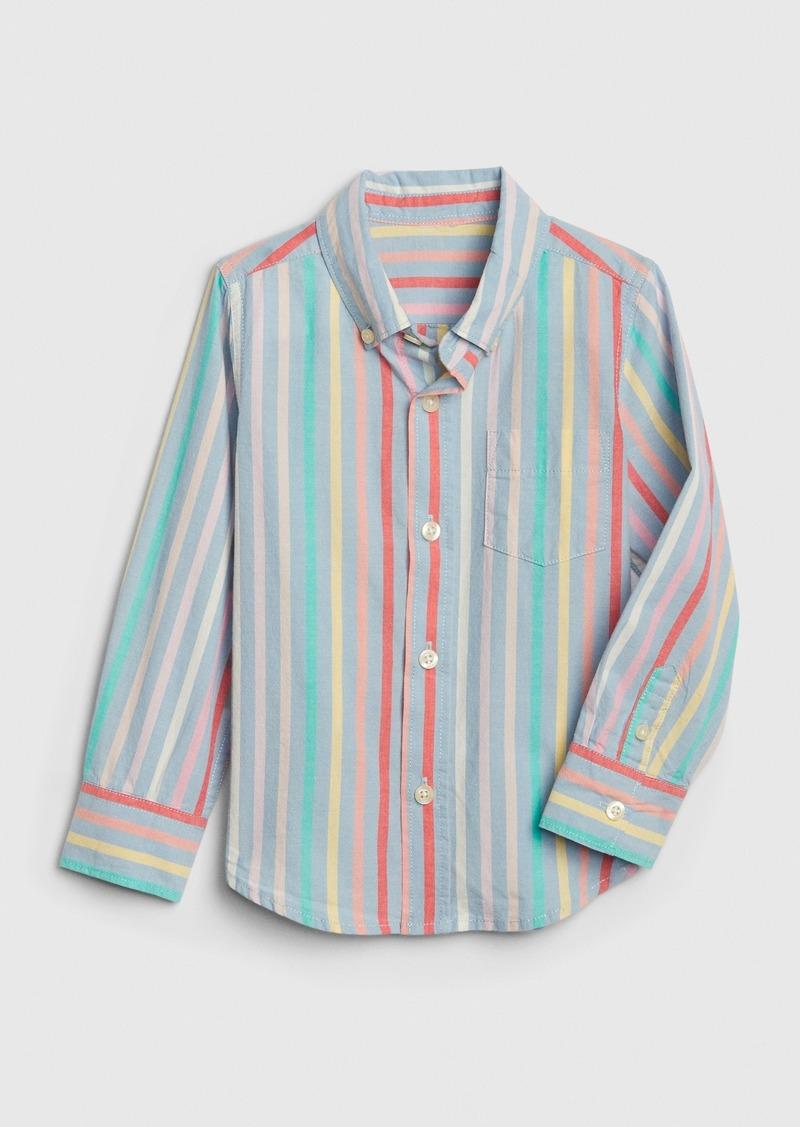 Gap Toddler Poplin Stripe Convertible Shirt