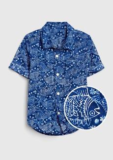 Gap Toddler Print Button-Up Shirt