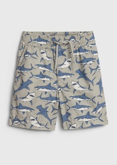 Gap Toddler Print Poplin Pull-On Shorts