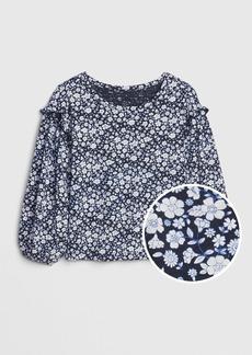 Gap Toddler Print Ruffle-Sleeve Top