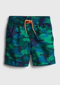 Gap Toddler 100% Recycled Polyester Graphic Swim Trunks