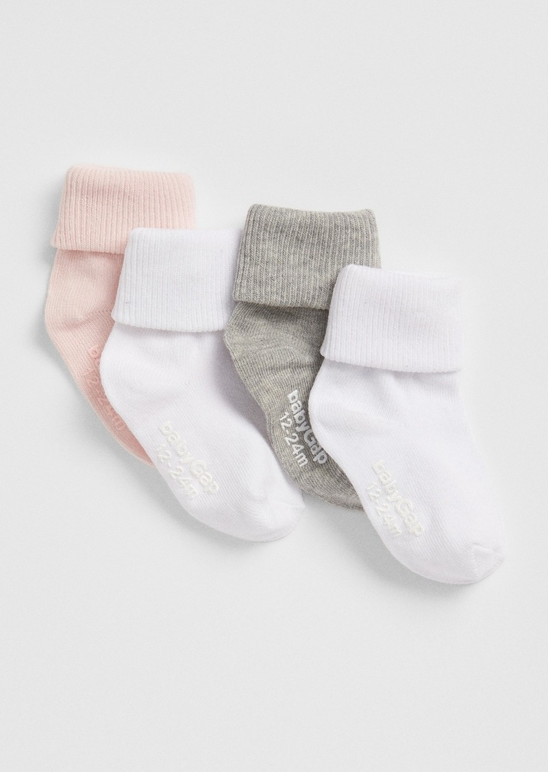 Gap Toddler Roll Crew Socks (4-Pack)