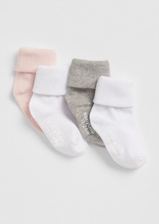 Gap Toddler Roll Crew Socks (4-Pack)