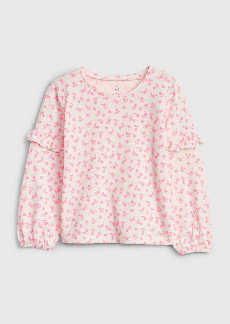 Gap Toddler Ruffle Puff-Sleeve Top