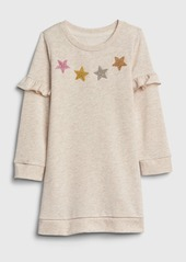 Gap Toddler Ruffle Star Sweatshirt Dress