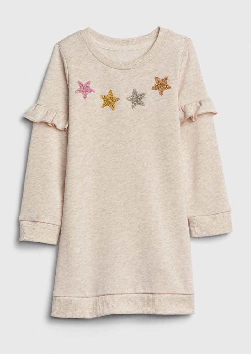 Gap Toddler Ruffle Star Sweatshirt Dress