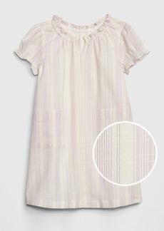 Gap Toddler Ruffle-Trim Stripe Shift Dress