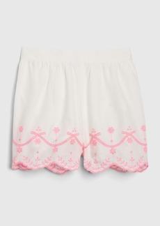 Gap Toddler Scalloped Eyelet Pull-On Shorts
