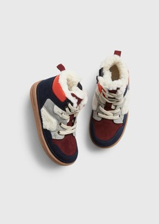 Gap Toddler Sherpa-Lined Hi-Top Sneakers