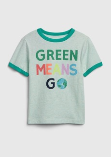 Gap Toddler Short Sleeve Earth Day Ringer T-Shirt