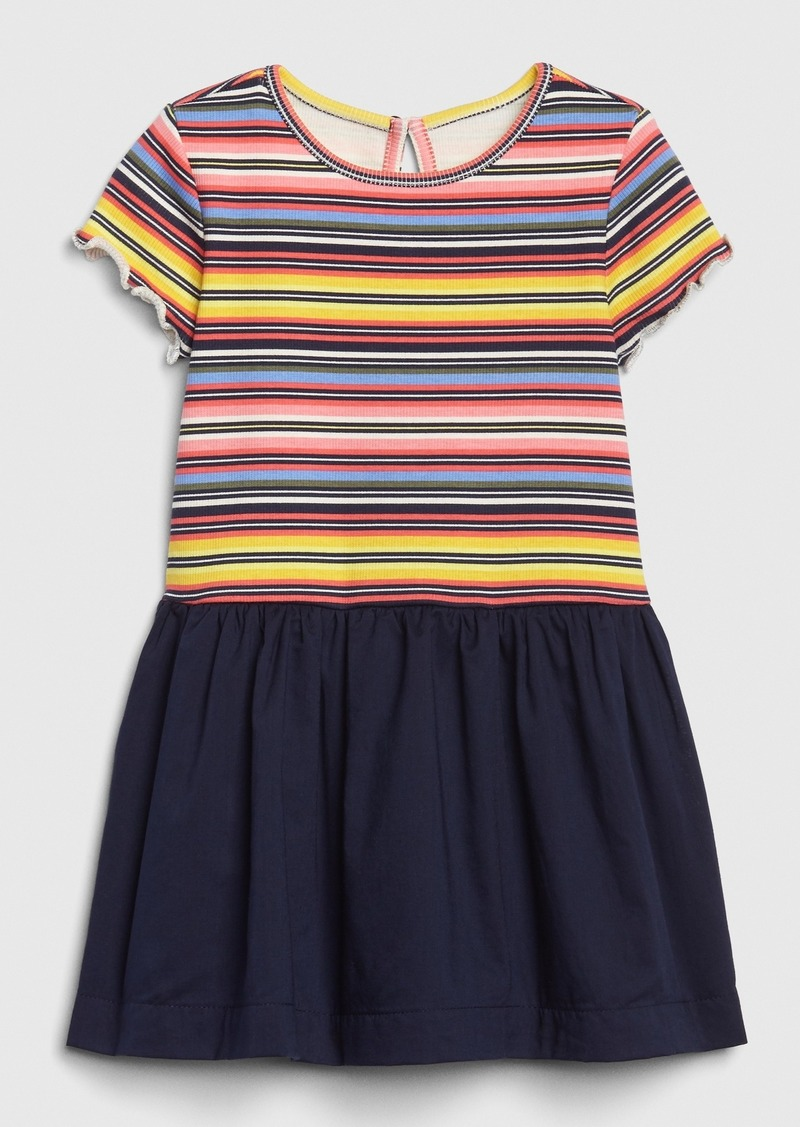 Gap Toddler Short Sleeve Mix-Media Dress