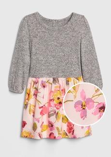 Gap Toddler Softspun Mix-Fabric Dress