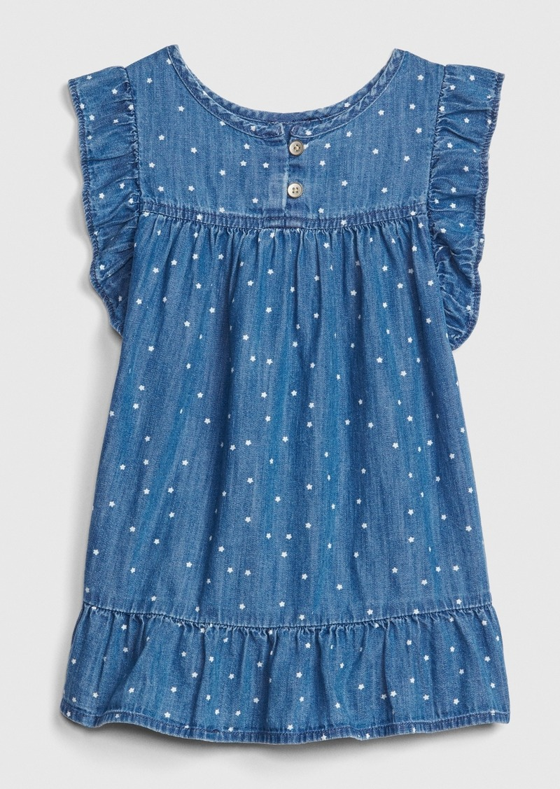 Gap Toddler Star Ruffle Denim Dress