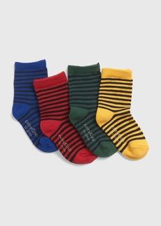 Gap Toddler Stripe Crew Socks (4-Pack)