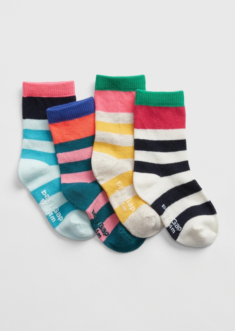 Gap Toddler Stripe Crew Socks (4-Pack)