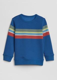 ac1dd4ef9 Gap Toddler Stripe Crewneck Sweatshirt In Fleece