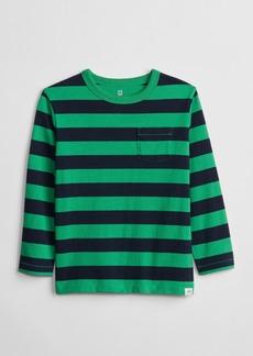 Gap Toddler Stripe Pocket Long Sleeve T-Shirt
