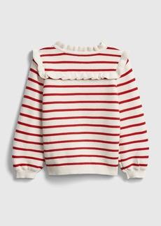 Gap Toddler Stripe Ruffle Sweater