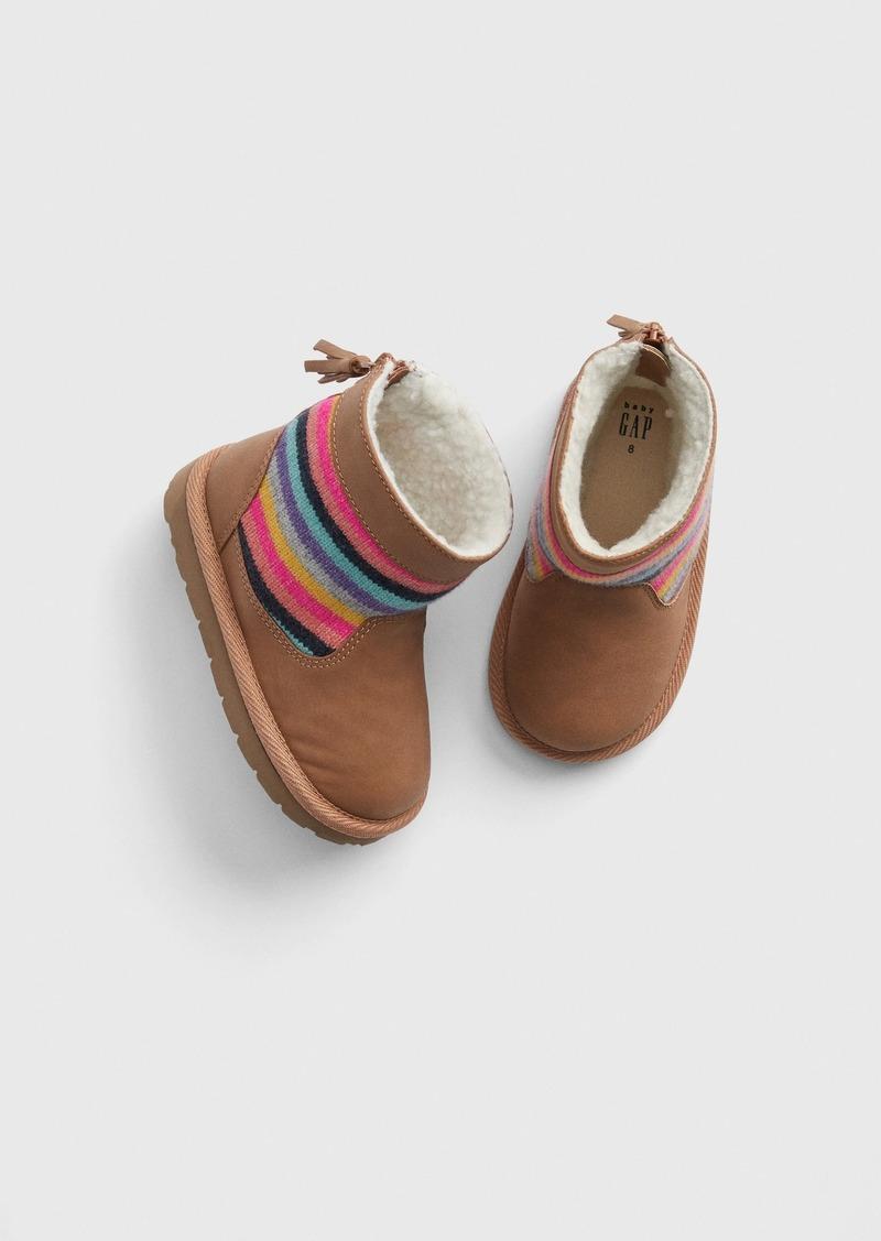 Gap Toddler Stripe Sherpa Boots