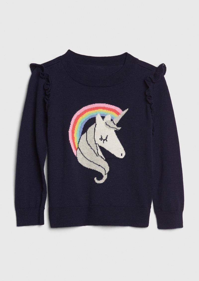 Gap Toddler Unicorn Intarsia Sweater