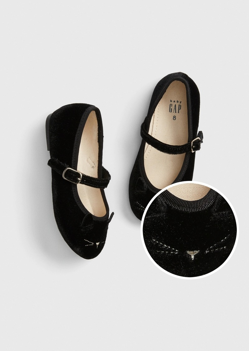 Gap Toddler Velvet Cat Ballet Flats