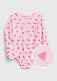 Gap Toddler Watermelon Rash Guard Swim One-Piece