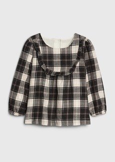 Gap Toffler Flannel Ruffle Top