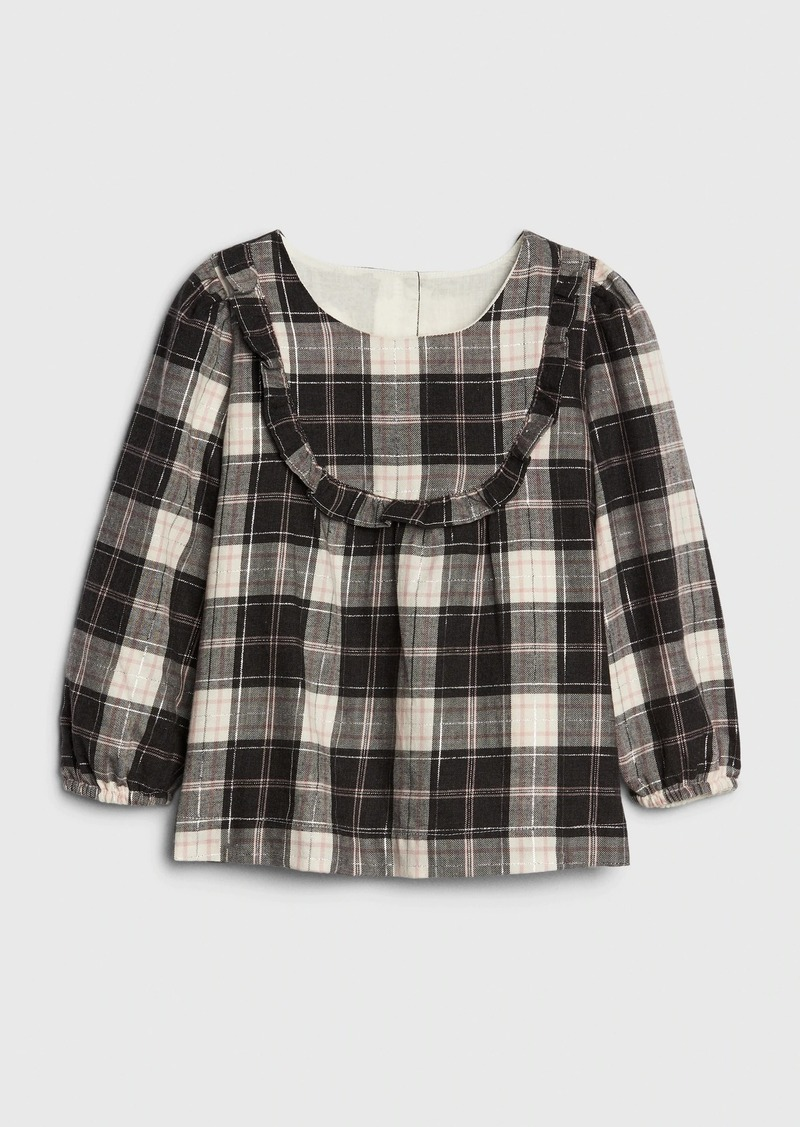 Gap Toddler Flannel Ruffle Top