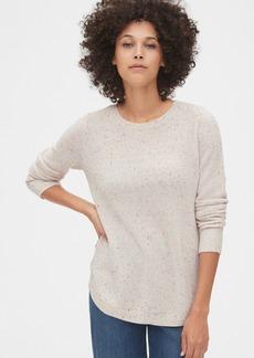 Gap True Soft Textured Crewneck Tunic Sweater