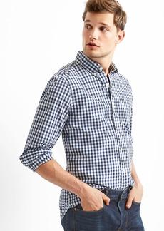 Gap True wash poplin gingham slim fit shirt