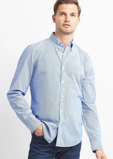 Gap True wash poplin micro stripe slim fit shirt