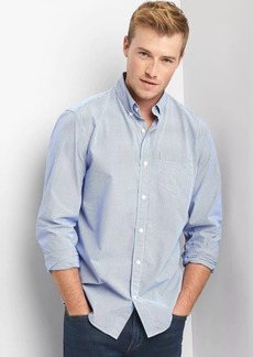 Gap True wash poplin pinstripe standard fit shirt