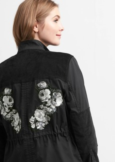Twill Cord Utility Jacket with Embroidery