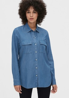 Gap Utility Pocket Boyfriend Shirt in TENCEL&#153