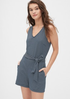 Gap V-Neck Romper in Ponte