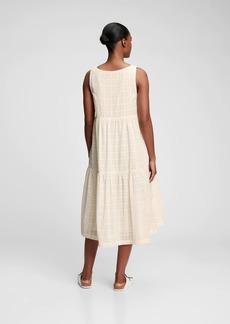 Gap V-Neck Tiered Midi Dress