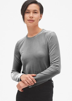 Gap Velvet Long Sleeve Crewneck T-Shirt