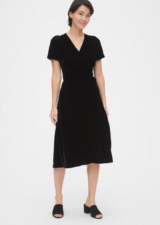Gap Velvet Midi Wrap Dress