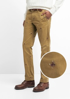 Vintage Embroidered Pants in Slim Fit with GapFlex