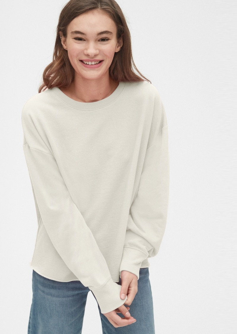Gap Vintage Soft Crewneck Sweatshirt with Raw Hem