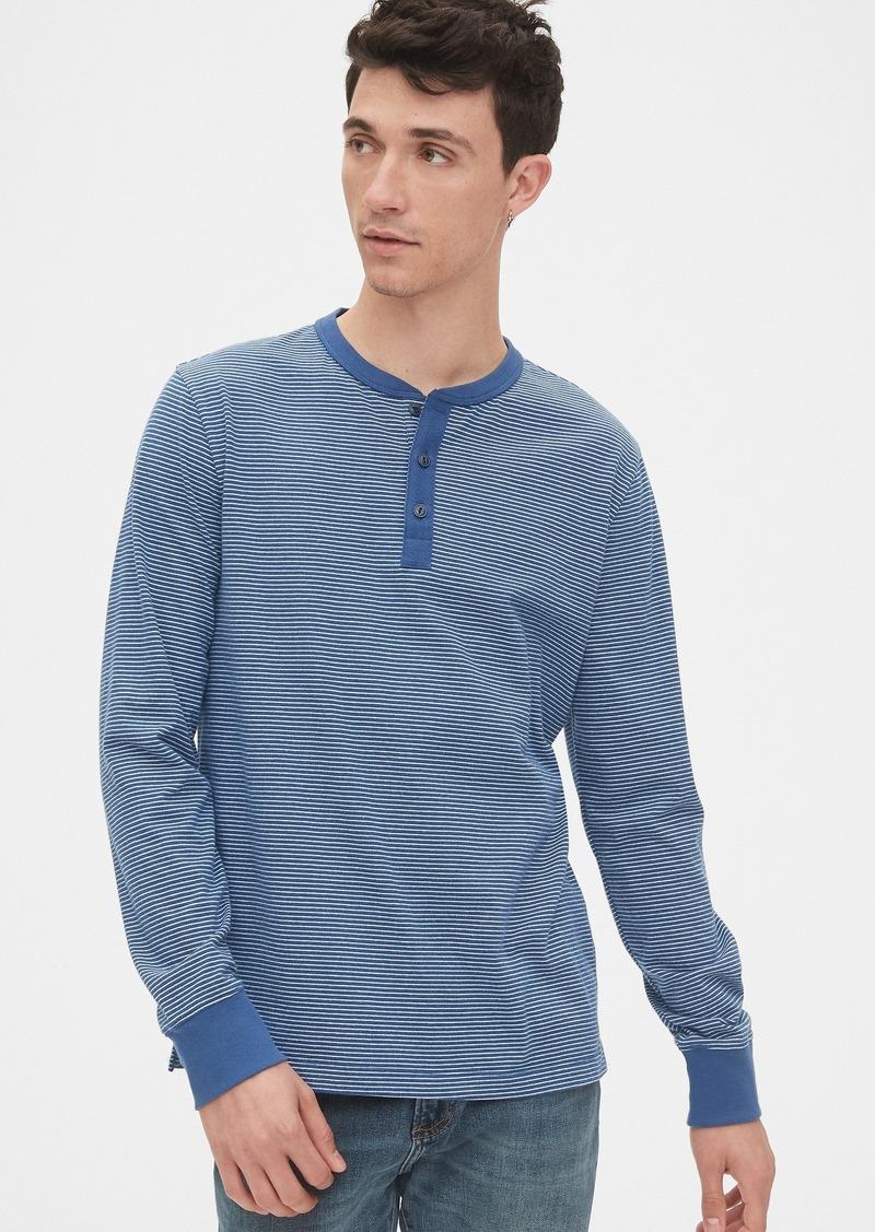 Gap Vintage Soft Stripe Henley T-Shirt