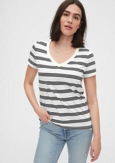 Gap Vintage Wash Stripe V-Neck T-Shirt