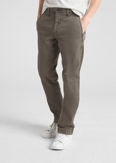 Vintage Wash Khakis in Straight Fit with GapFlex