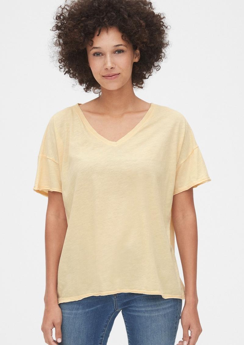 Gap Vintage Wash Slub V-Neck T-Shirt