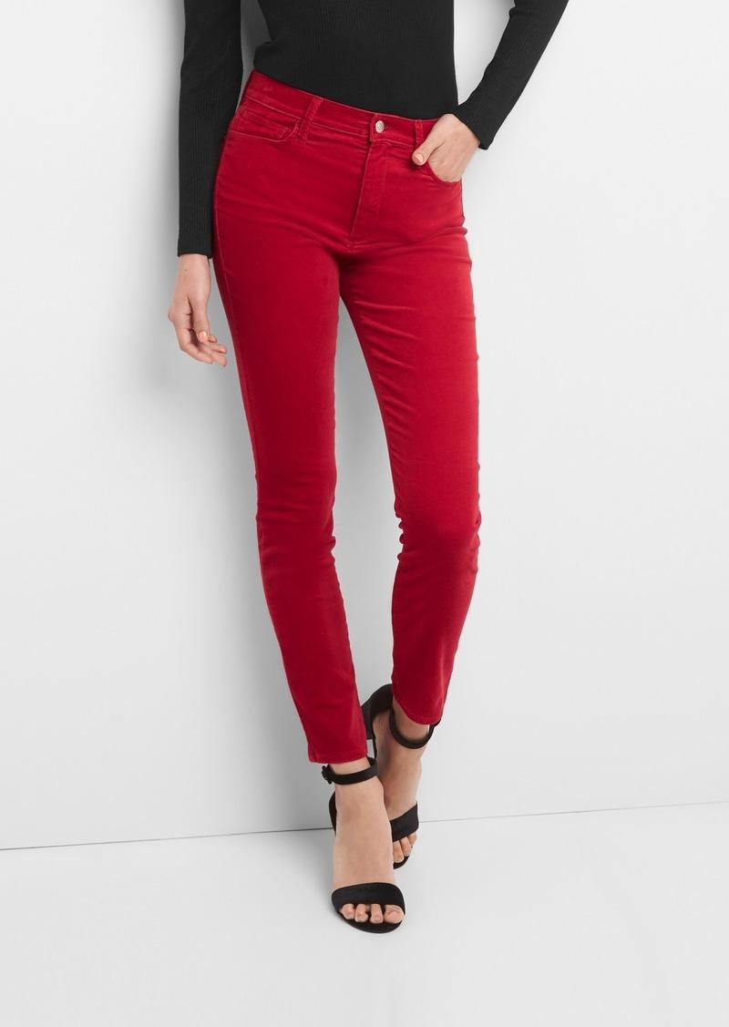 820e660174e Gap Washwell Super High Rise True Skinny Ankle Jeans in Velvet