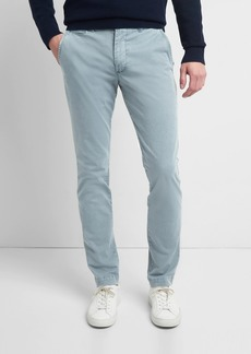 Washwell Vintage Wash Khakis in Skinny Fit with GapFlex