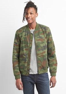 Gap Wearlight Camo Bomber Jacket