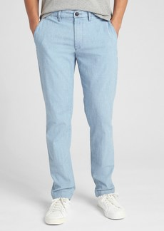 Wearlight Chambray Pants in Slim Fit with GapFlex